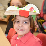 Me at school with my Frog hat on for passover