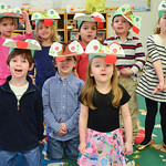 My class with our frog hats! (Minus Justin)